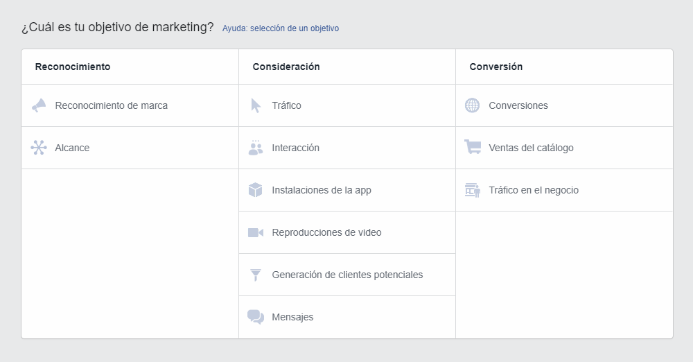 Objetivo marketing